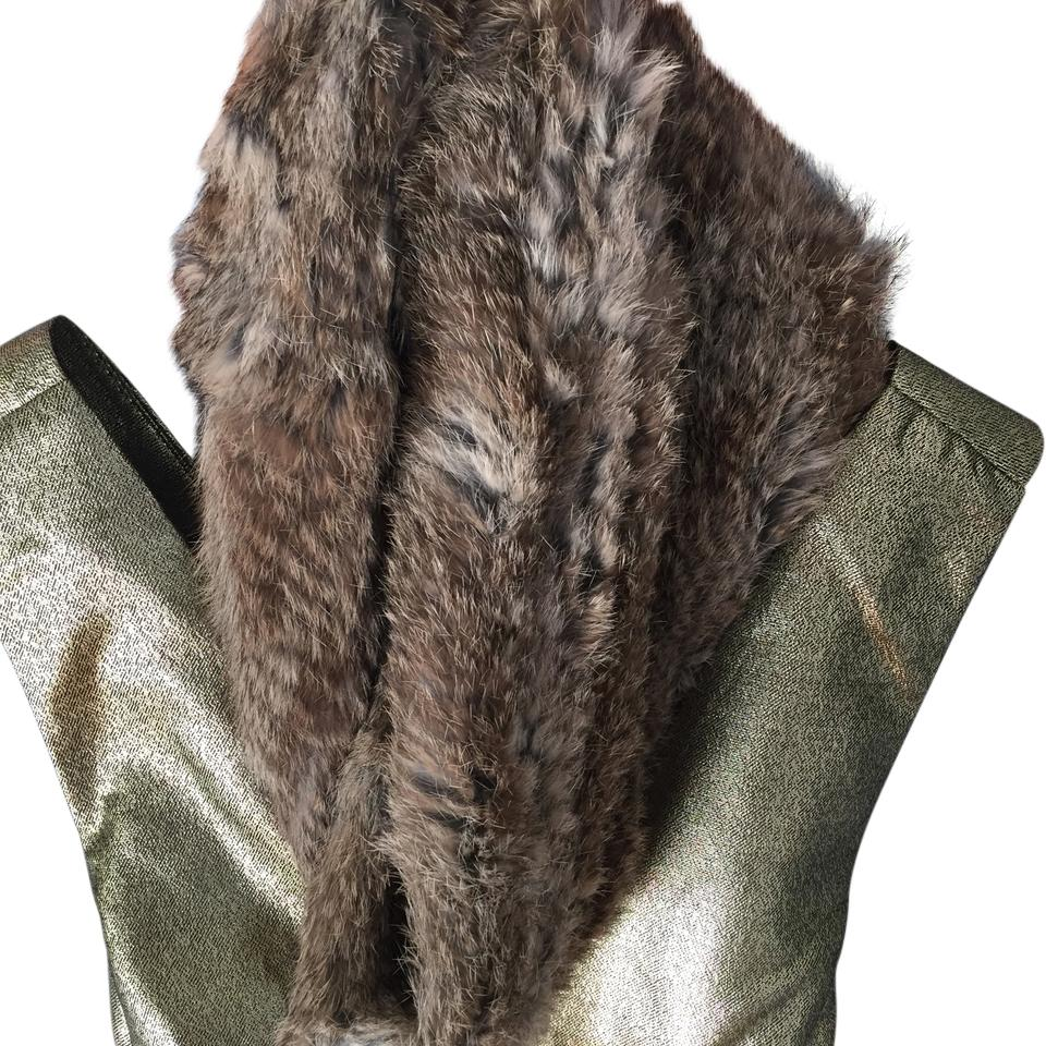 Surell Camel Color Rabbit Fur Infinity Scarf Wrap Tradesy