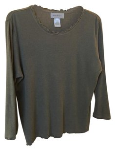 Susan Bristol Knit Light Heather Kahki T Shirt