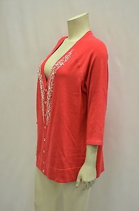 Susan Graver Embellished Button Front Knit Cardigan 1x 160641c Rm Sweater