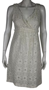 Suzi Chin for Maggy Boutique Womens Lace Knee Length Sheath Dress