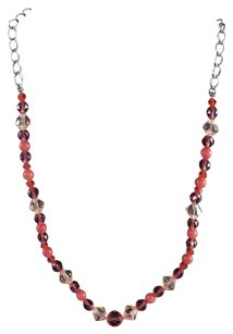 Swarovski Genuine Swarovski Crystal Necklace Salmon Crystals 16