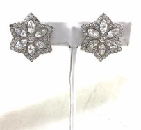 Swarovski Swarovski Vintage Star Shaped Earrings Crystal Clip On