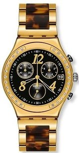 Swatch Swatch Dreamnight Golden Ladies Watch Ycg405gc