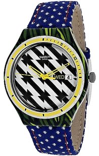 Swatch Swatch Ygs7016 Womens Watch Black And White -