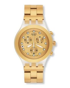 Swatch Women's SVCK4032G Stainless Steel Watch with Gold Dial
