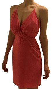 T-Bags Los Angeles Short Cocktail Low V Neckline Cocktail Dress
