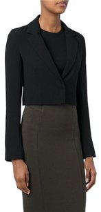 T by Alexander Wang T By Alexander Wang Black Cropped Notch Lapel Long Sleeve Collar Blazer Jacket