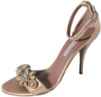 Tabitha Simmons 40 Ankle Champagne Heels Es Pumps