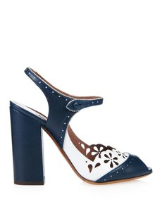 Tabitha Simmons Leather Blue Sandals