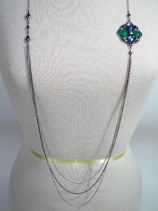 Tacori Tacori 18k925 City Lights Necklace Blue Quartz Green Onyx Hematite 925