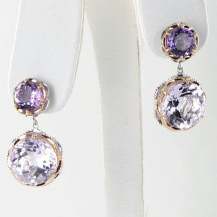 Tacori Tacori 18k925 Earrings Lilac Blossom Double Gem Drops Amethyst 18k Yg 925