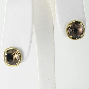 Tacori Tacori 18k925 Earrings Midnight Sun Studs Smokey Quartz 18k Y Gold 925