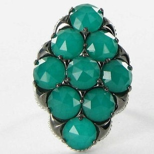 Tacori Tacori 18k925 Ring City Lights Cluster Green Onyx Quartz 925