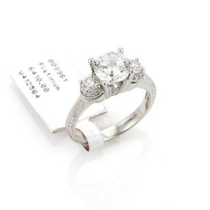 Tacori Tacori Diamond Platinum Mounting Only Waccent Engraved Ring
