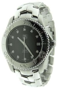 TAG Heuer Tag Heuer Link Diamond WJ1113 Stainless Steel Date 40mm Watch Box & Ca