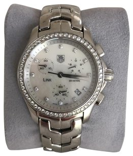 TAG Heuer Women's link chronograph 1.00 Ct full cut diamond watch