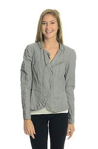 Tahari T By Elie Wrinkle Gray Jacket