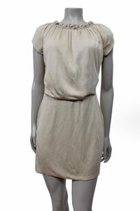 Tahari Arthur Levine Short Sleeve Blouson Dress