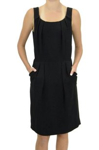 Tahari Pleated Neck Dress