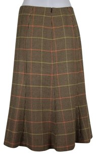 Talbots Womens Skirt Brown Beige Orange Green