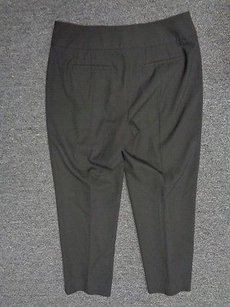 Talbots Heritage Stretch Crop Zip And Hook And Eye Dress Sma2227 Capri/Cropped Pants Black