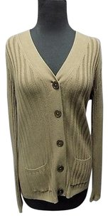Talbots Olive Cotton Blend Ribbed Button Front Cardigan Sma10542 Sweater