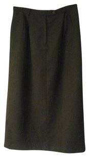 Talbots Fully Lined Skirt dark army green