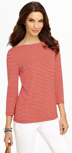 Talbots T Shirt IVORY/SPICY ORANGE