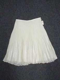 Talbots Skirt Cream And Silver