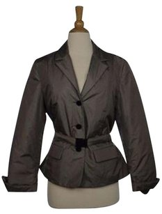 Talbots Womens Taupe Basic Jacket Long Sleeve Outer Blazer Coat