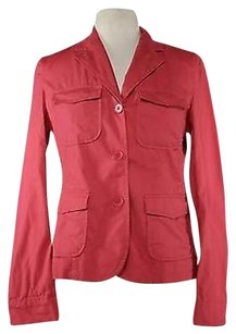 Talbots Womens Solid Pink Jacket