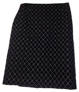 Talbots Skirt Black/white design