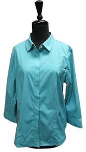Talbots Long Top Turquoise