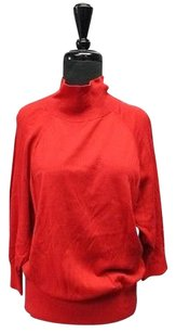 Talbots Cotton Long Sleeves Neck Solid Casual 5469 A Sweater