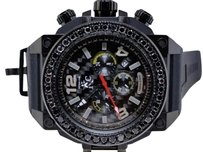 Techno Com by KC Mens Techno Com Kc Joe Rodeo Jojo Genuine Weg Black On Black Diamond Watch Ct