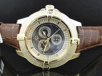 Techno Com by KC Mens Techno Com Kc Jojo Jojino Joe Rodeo Icy Yellow Diamond Watch Mm 0.25 Ct