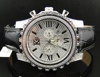 Techno Com by KC Mens Techno Com Kc Watch Wkk Stainless Steel Diamond Watch With Side Diamonds