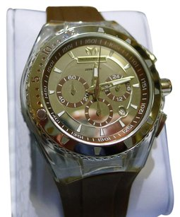 TechnoMarine Technomarine Cruise Original Mens Brown Gel Band Chronograph Quartz Watch 110068
