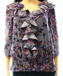 Ted Baker 100% Polyester 3/4 Sleeve Top