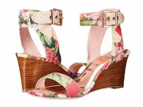 Ted Baker Womens Lernox Encyclopaedia Textile Sandal In Box Floral Platforms