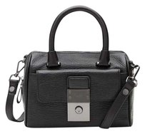 Ted Baker Leather Maira New With Tags Satchel in Black/Gunmetal