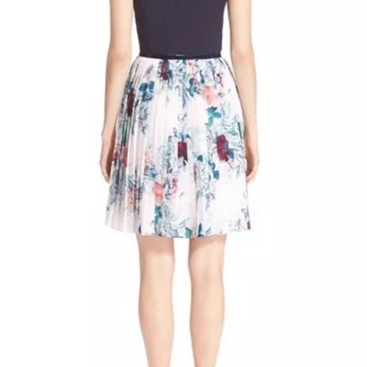 Ted Baker Multi Color Quot Dessy Quot Acanthus Scroll Cap Sleeve