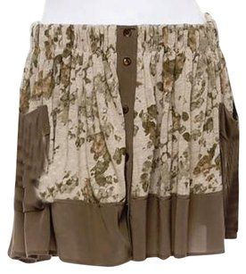 Thakoon Skirt tan,sage green and beige