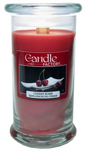 The Candle Factory The Candle Factory Large 15-ounce Jar Crackling Candle, Cherry Bomb