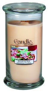 The Candle Factory The Candle Factory Large 15-Ounce Jar Crackling Candle, Christmas Cookies