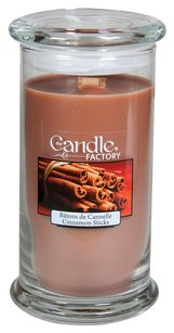 The Candle Factory The Candle Factory Large 15-ounce Jar Crackling Candle, Cinnamon Sticks