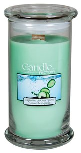The Candle Factory The Candle Factory Large 15-ounce Jar Crackling Candle, Cucumber Splash