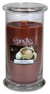 The Candle Factory The Candle Factory Large 15-ounce Jar Crackling Candle, Fresh Brew Coffee