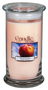 The Candle Factory The Candle Factory Large 15-ounce Jar Crackling Candle, Fresh Peach