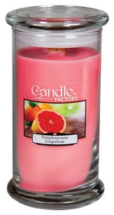 The Candle Factory The Candle Factory Large 15-ounce Jar Crackling Candle, Grapefruit
